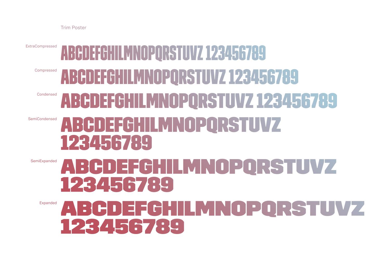 La famiglia di font