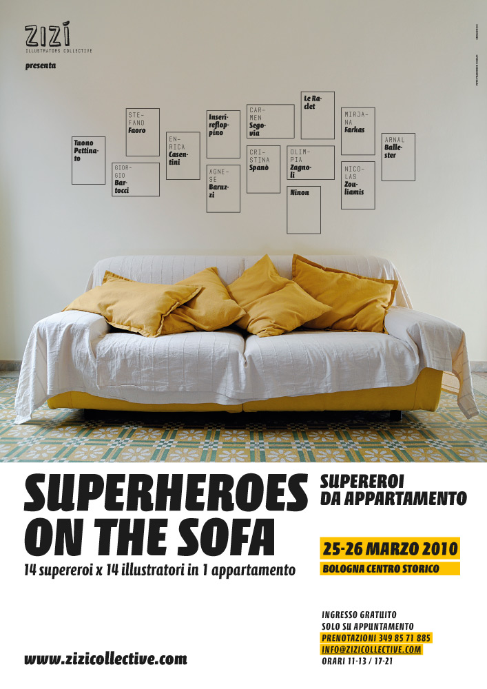 Superheroes on the sofa