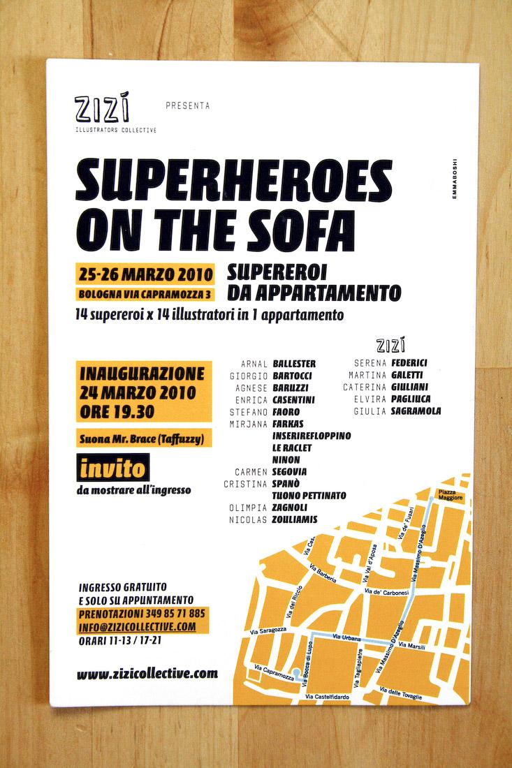 Superheroes on the sofa